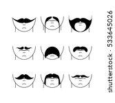 big set of vector hipster... | Shutterstock .eps vector #533645026