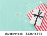 top view on christmas gifts... | Shutterstock . vector #533646598