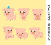 set vector illustrations... | Shutterstock .eps vector #533647936