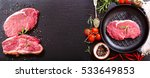 fresh meat with rosemary in a... | Shutterstock . vector #533649853