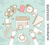 calendar line design. vector...   Shutterstock .eps vector #533652058