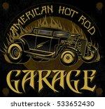 american hot rod garage.... | Shutterstock .eps vector #533652430
