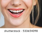 detail on a gorgeous smile of a ... | Shutterstock . vector #533654098