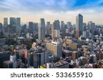 cityscapes of tokyo in fog... | Shutterstock . vector #533655910