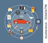 car mainteinance and repair... | Shutterstock .eps vector #533656798