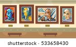 cubist great painter face... | Shutterstock .eps vector #533658430
