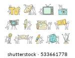 journalist icons set of working ... | Shutterstock .eps vector #533661778