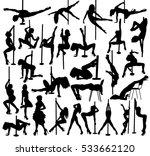 striptease silhouettes | Shutterstock .eps vector #533662120