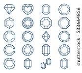 Diamonds And Gems Icons Set ...
