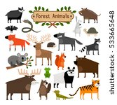 collection of cartoon forest... | Shutterstock . vector #533665648