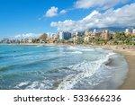 beach of coastal benalmadena... | Shutterstock . vector #533666236