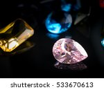 jewel or gems on black shine... | Shutterstock . vector #533670613
