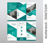 green triangle business trifold ... | Shutterstock .eps vector #533672104