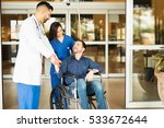 happy and recovered patient... | Shutterstock . vector #533672644