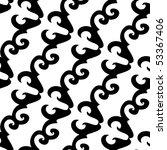 seamless black and white... | Shutterstock . vector #53367406