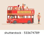 people go on the red tourist... | Shutterstock .eps vector #533674789