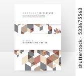 geometric background template... | Shutterstock .eps vector #533675563