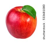 apple isolated on white...   Shutterstock . vector #533681080