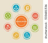 regulation. concept with icons... | Shutterstock .eps vector #533681536
