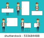 a set of different business... | Shutterstock .eps vector #533684488