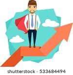 the concept path to success.... | Shutterstock .eps vector #533684494