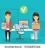 the concept of hiring a new job.... | Shutterstock .eps vector #533685166