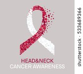head and neck cancer awareness... | Shutterstock .eps vector #533689366