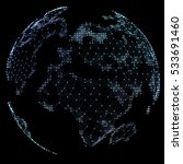 world map point  line ... | Shutterstock . vector #533691460