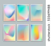 vivid gradient backgrounds. set ... | Shutterstock .eps vector #533699488