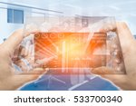 new smart display technology on ... | Shutterstock . vector #533700340