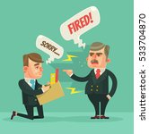 fired office worker man. angry... | Shutterstock .eps vector #533704870