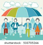 business group protection   Shutterstock .eps vector #533705266