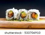 japanese food sushi roll maki...   Shutterstock . vector #533706910