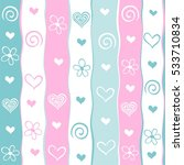 valentine's day background.... | Shutterstock .eps vector #533710834