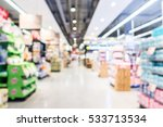 abstract blur supermarket and... | Shutterstock . vector #533713534