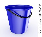 3d blue bucket with reflection  ... | Shutterstock . vector #533716444