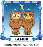 zodiac sign gemini. fantastic... | Shutterstock .eps vector #533720119