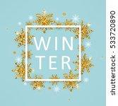 vector illustration of winter... | Shutterstock .eps vector #533720890