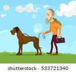 old man character walking with... | Shutterstock .eps vector #533721340
