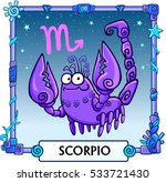 zodiac sign scorpio. fantastic... | Shutterstock .eps vector #533721430