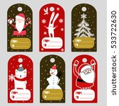 christmas labels | Shutterstock .eps vector #533722630