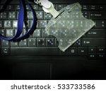 empty employee card holder put...   Shutterstock . vector #533733586