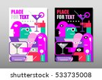 two versions of the cocktail... | Shutterstock .eps vector #533735008