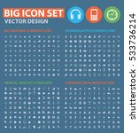 big icon set clean vector | Shutterstock .eps vector #533736214