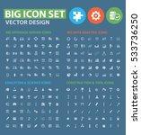 big icon set clean vector | Shutterstock .eps vector #533736250