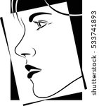 face profile view. elegant...   Shutterstock .eps vector #533741893