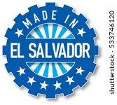 made in el salvador flag color...   Shutterstock .eps vector #533746120