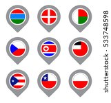 set of flag map point isolated... | Shutterstock .eps vector #533748598