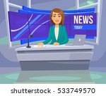 anchorwoman character on tv.... | Shutterstock .eps vector #533749570