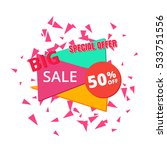 big sale poster. big sale  ... | Shutterstock .eps vector #533751556